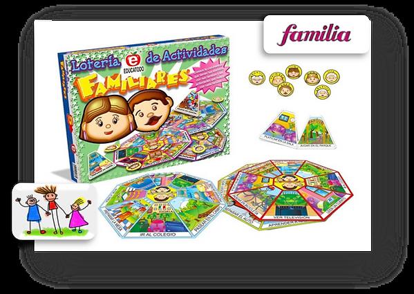 loteria de actividades familiares 2 educ