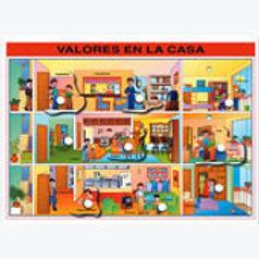 Puzzle With Peg  - Values at Home: Resaque con Perilla Valores en la Casa