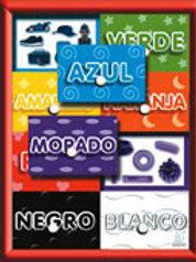 Puzzle With Peg  - Colors: Resaque con Perilla Colores