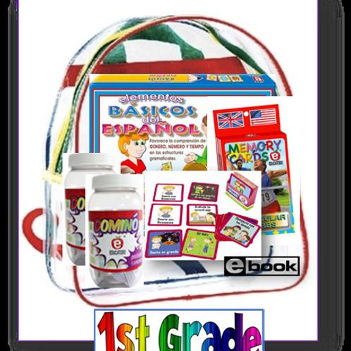 1st grade, Parent Take-home backpack, Span/Eng, Standards-based Family