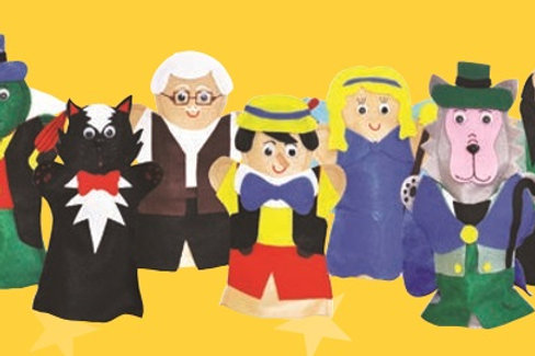 Set of 7 Finger Puppets Pinocchio: Juego de Títeres Digitales Pinocho