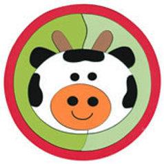 Puzzle Zoo Balls Cow: Rompecabezas Zoobolitas Vaca