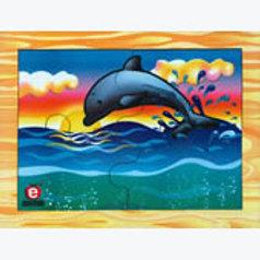 Mama Dolphin and Baby Puzzle: Rompecabezas Delfín