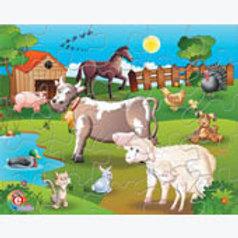 Puzzle in a box Domestic Animals: Rompecabezas en caja Animales Domésticos