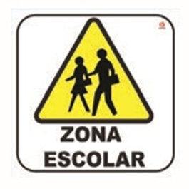 Sign Individual School Area: Señal Individual Zona Escolar