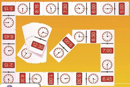 Telling Time Dominoes Game: Dominó 24 horas