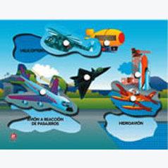 Puzzle With Peg Air - Transportation: Resaque con Perilla Transportes Aéreos