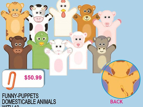Fun Puppets Domestic Animals: Divertititeres Guiñol Animales Domesticables
