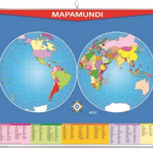 Erasable World Map: Plumocolor Mapa Mundi