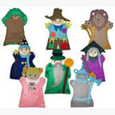 Set of 8 Puppets Wizard Of Oz: Juego de 8 Guiñoles El Mago de Oz