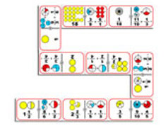 Fractions Division Giant Dominoes Game: Domino Gig