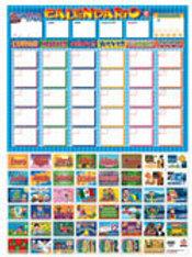 Poster  -Calendar Ready To Hang: Póster Calendario Con Bastón