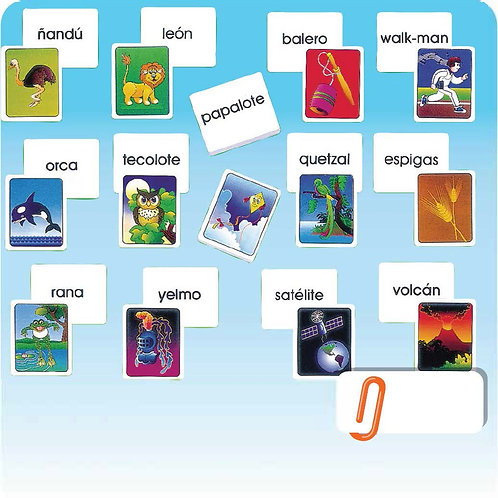 Memory Matching Game Image and Text