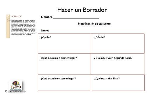 HACER UN BORRADOR; SPANISH THINKING MAP GRAPHIC ORGANIZER DOWNLOADABLE
