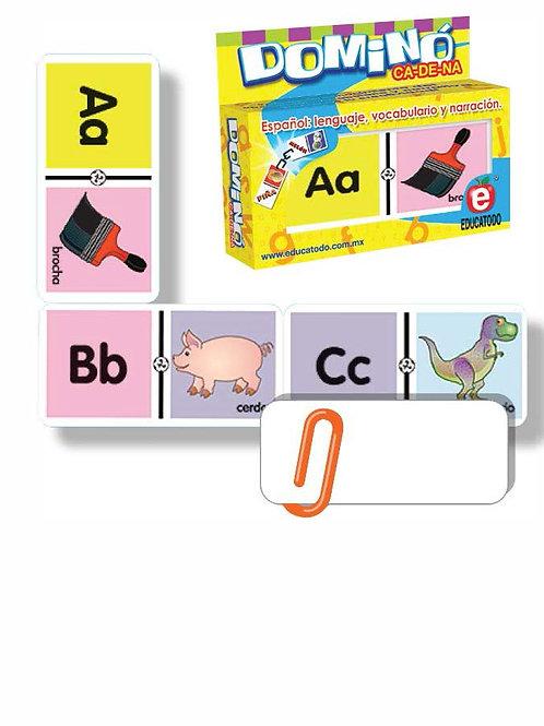 Domino Association Alphabet: Dominó ABC de Asociación