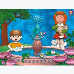 Puzzle in Box The Fountain: Rompecabezas en caja La Fuente
