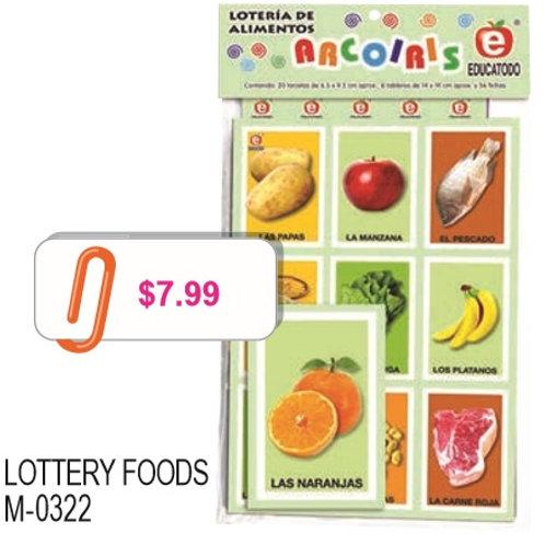 Food Bingo Game: Lotería Alimentos