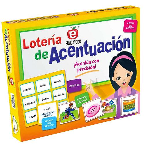 Accent Rules Bingo Game: Lotería De Acentuación