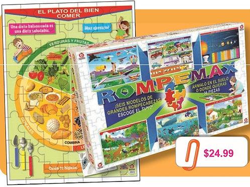 Max Puzzle Plate of Good Eating: RompeMax el Plato del Bien Comer