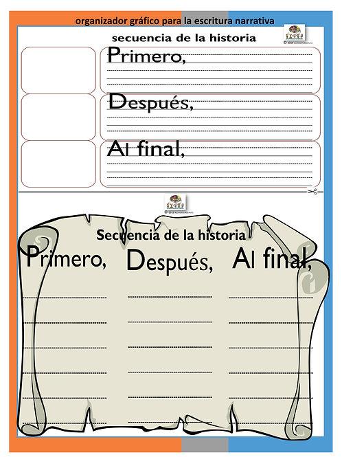 SECUENCIA DE LA HISTORIA PRIMERO/DESPUES/FINAL SPANISH-DOWNLOADABLE