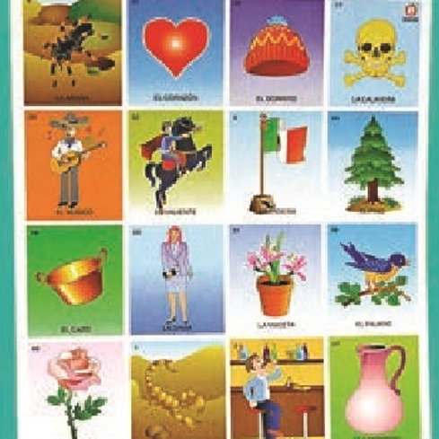 Traditional Mexican Bingo Game Large: Mega Loteria Tradicional