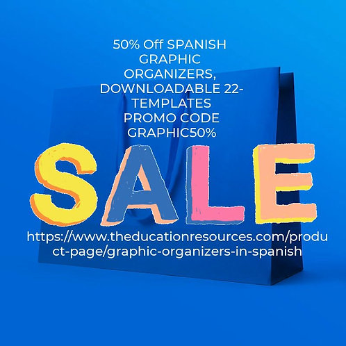 26 SET Graphic Organizers in Spanish DOWNLOADABLE VERSION