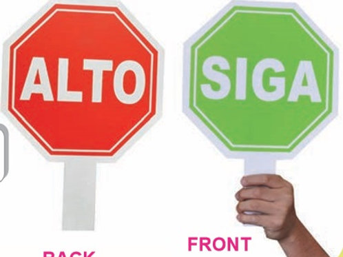 Paddle Sign - Stop-Go: Paleta Siga - Alto