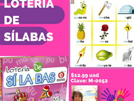 Loteria de silabas, Spanish bingo-Syllables-Teacher Favorite!