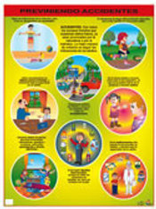 Poster - Preventing Accidents Ready to Hang: Póster Previniendo Accidentes con B
