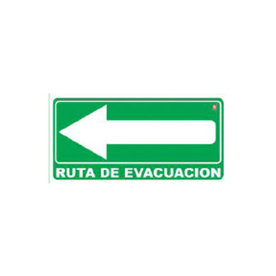Classroom Label - Evacuation Route Arrow