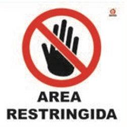 Sign Individual Restricted Area: Señal Individual Área  Restringida