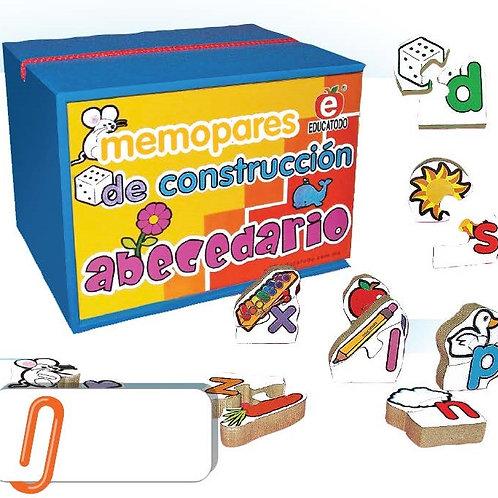Memory Matching Game - Alphabet Construction: Cajita Memopares Construcción Abec