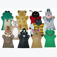 Set of 10 Finger Puppets Forest Animals: Juego  de 10 Títeres Digitales Animales