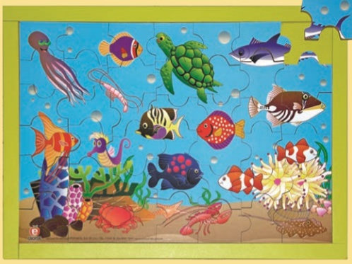 Puzzle - Animals of the Sea: Rompecabezas Animales Del Mar