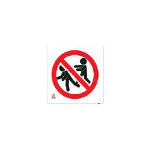 Classroom Label - No Pushing