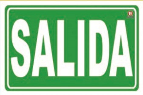 Sign Exit: Señal Salida