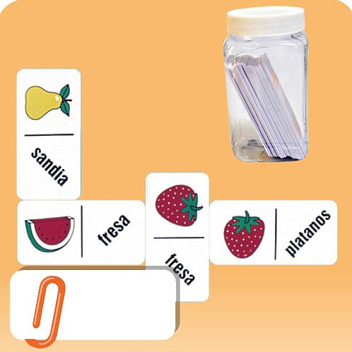 Fruit Words Dominoes Game: Dominó Texto Frutas