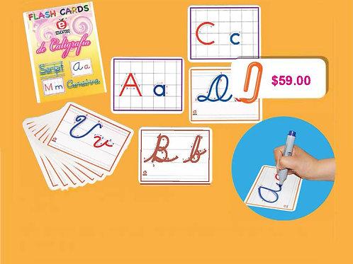 Callygraphy Flash Cards: Flash Cards Caligrafía