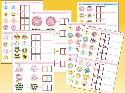 Math Stickers: Cromos para Escriman Matemáticas