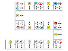 Fractions Addition Circles Giant Dominoes Game:
