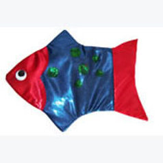 Blue Fish Hand Puppet: Moninos