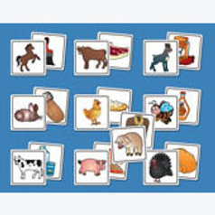 Memory Matching Game Farm Animals and others: Memo