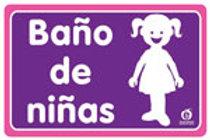 Sign Girls Bathroom: Señal Baño Niñas