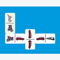 Transportation Dominoes Game: Dominó Transportes