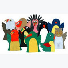 Set of 10 Puppets Birds: Juego de 10 Guiñoles Aves