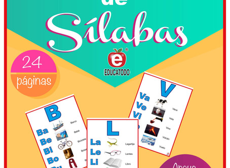 NEW RELEASE, SPANISH SYLLABLES FLIP CHART, TABLE TOP SIZE,                          ATRIL DE SILABAS