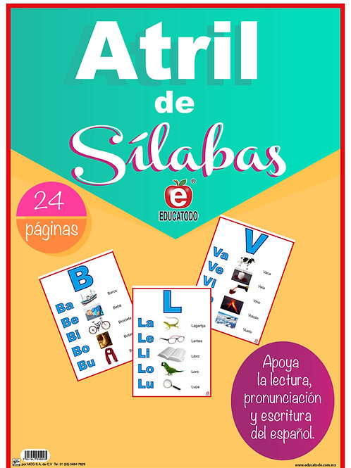 Atril de Silabas (Syllables Flip Chart Book in Spanish)