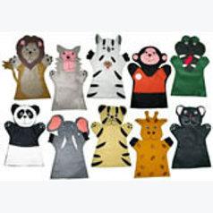 Set of 10 Finger Puppets Jungle Animals: Juego de 10 Títeres Digitales Animales