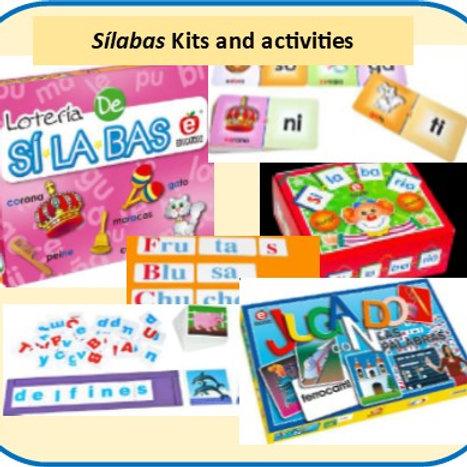 Silabas Kits and Activities