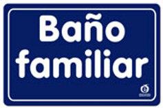 Sign Family Bathroom: Señal Baño Familiar